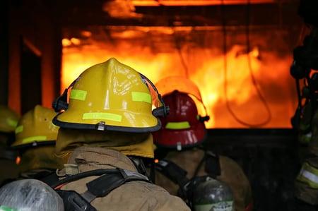 Firefighters Entering Fire
