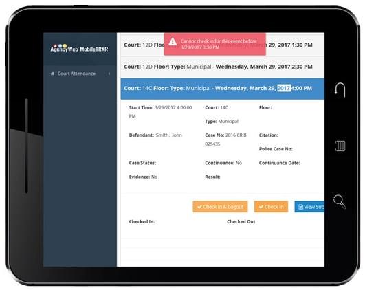 MobileTRKR Checkin Conflict Screen
