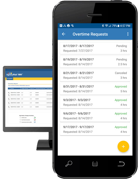 Enter Overtime Requests Using PC's and Mobile Devices