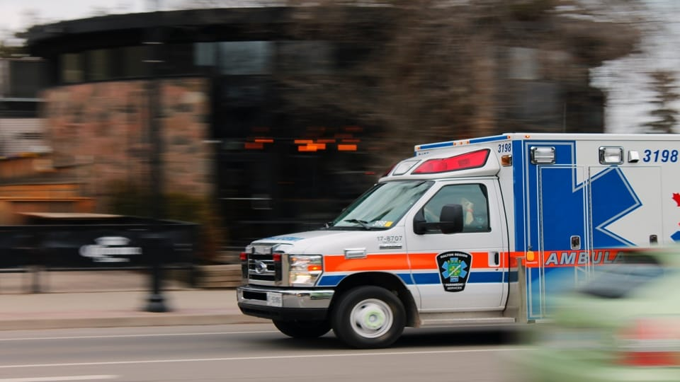 white-blue-orange-ambulance