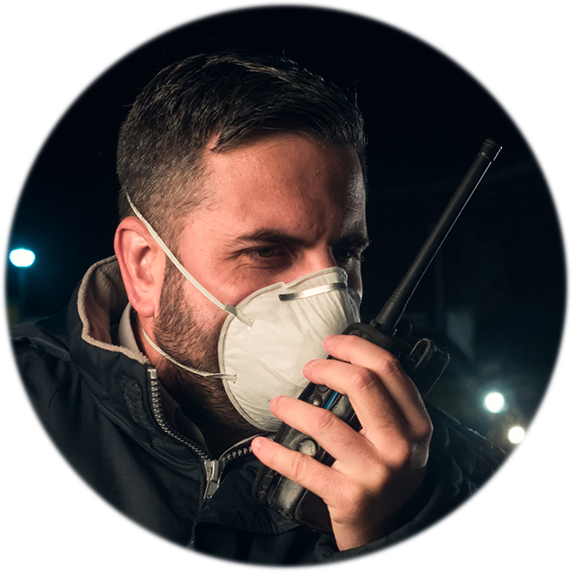 Policeman_COVID mask